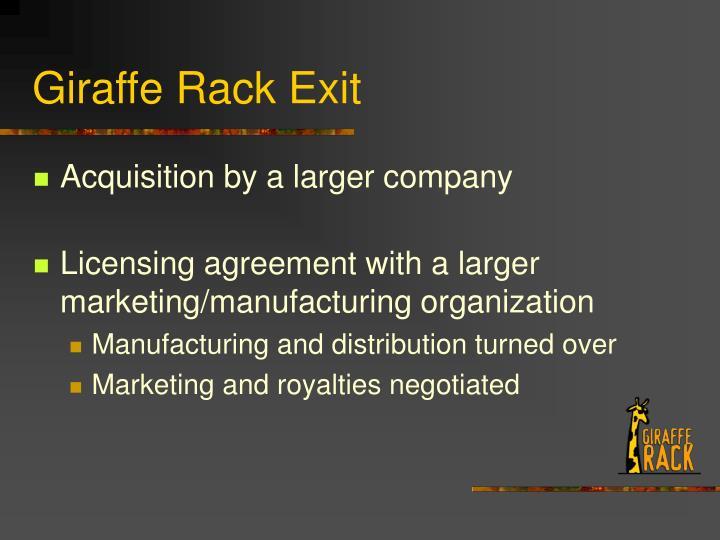 Giraffe Rack Exit