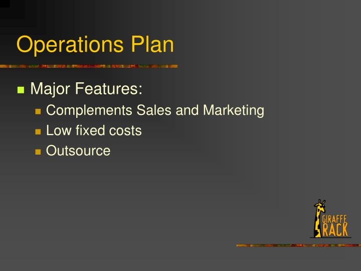 Operations Plan