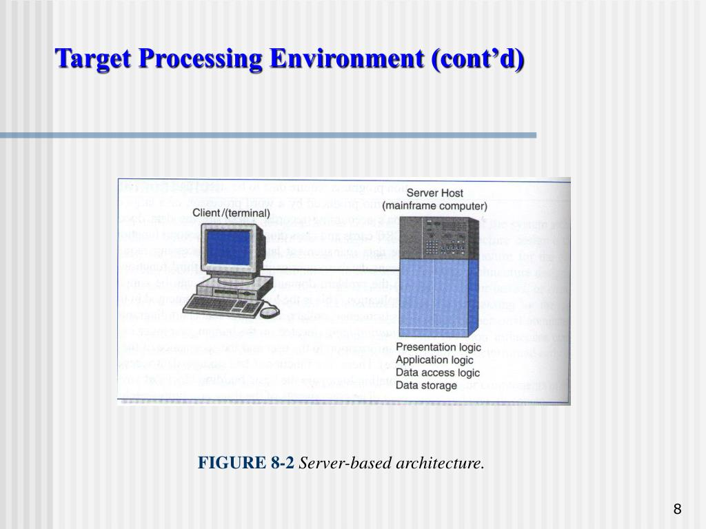 Target Processing Environment (cont'd)