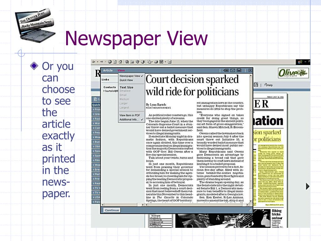 Newspaper View