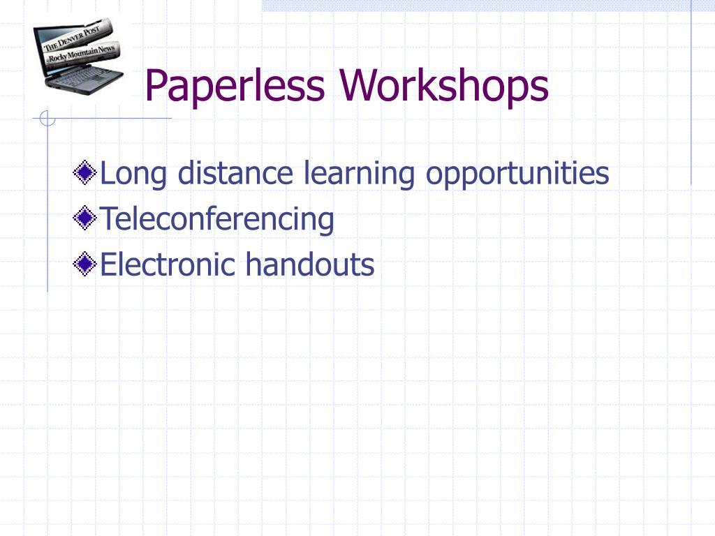 Paperless Workshops