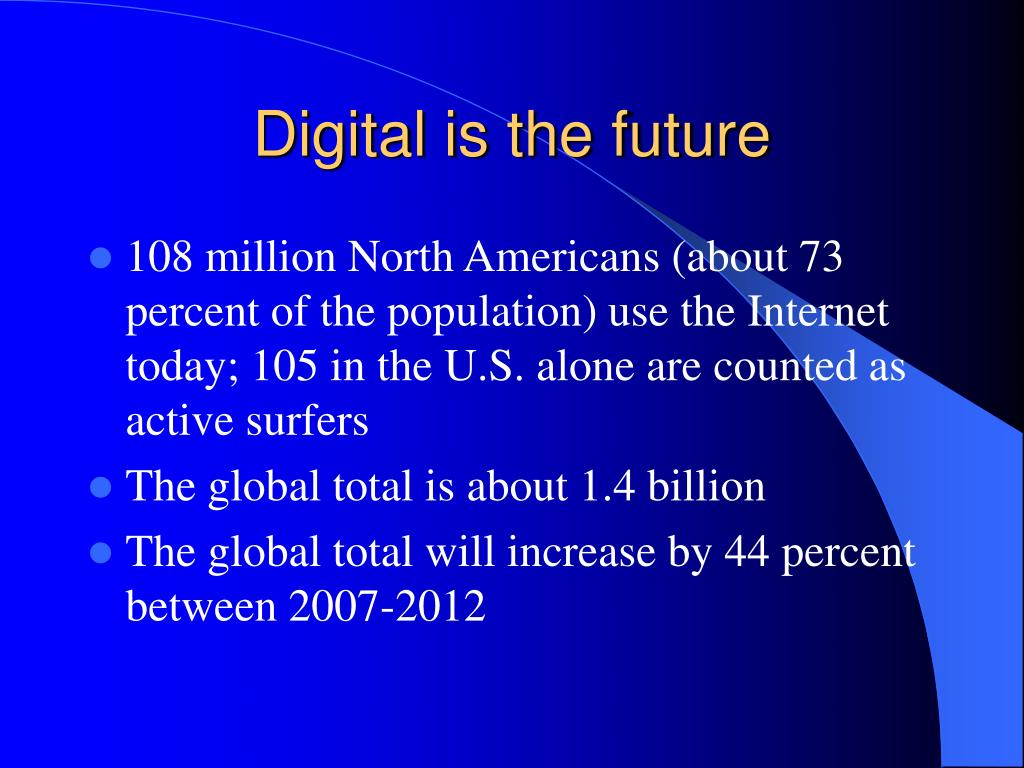 Digital is the future