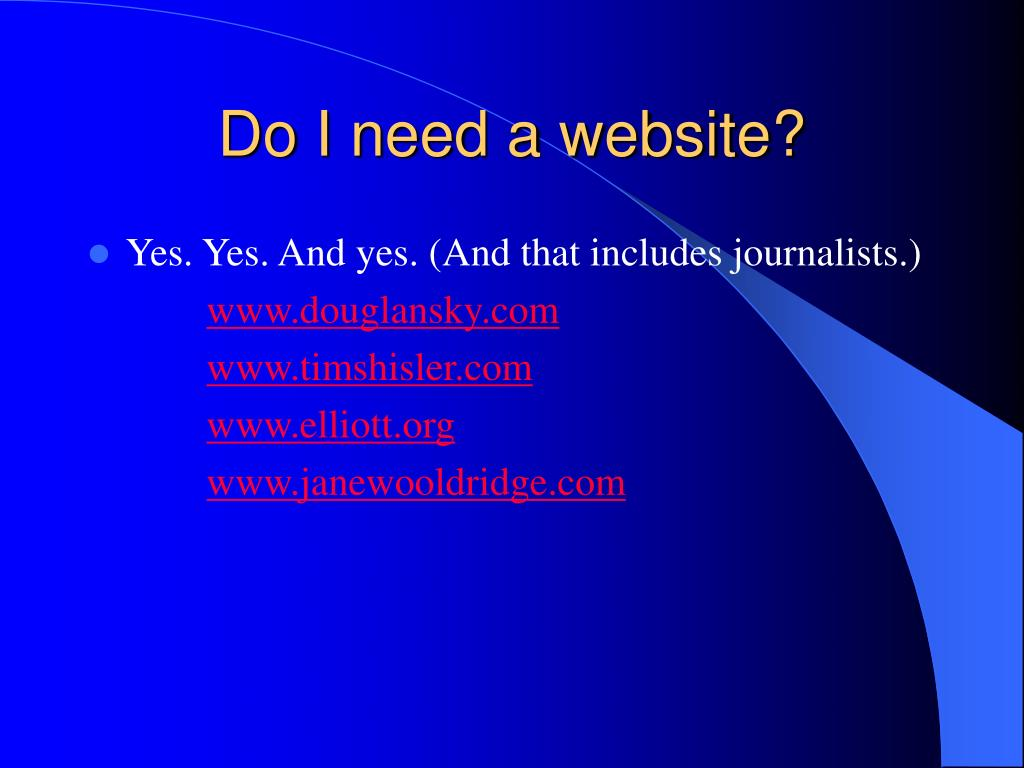 Do I need a website?