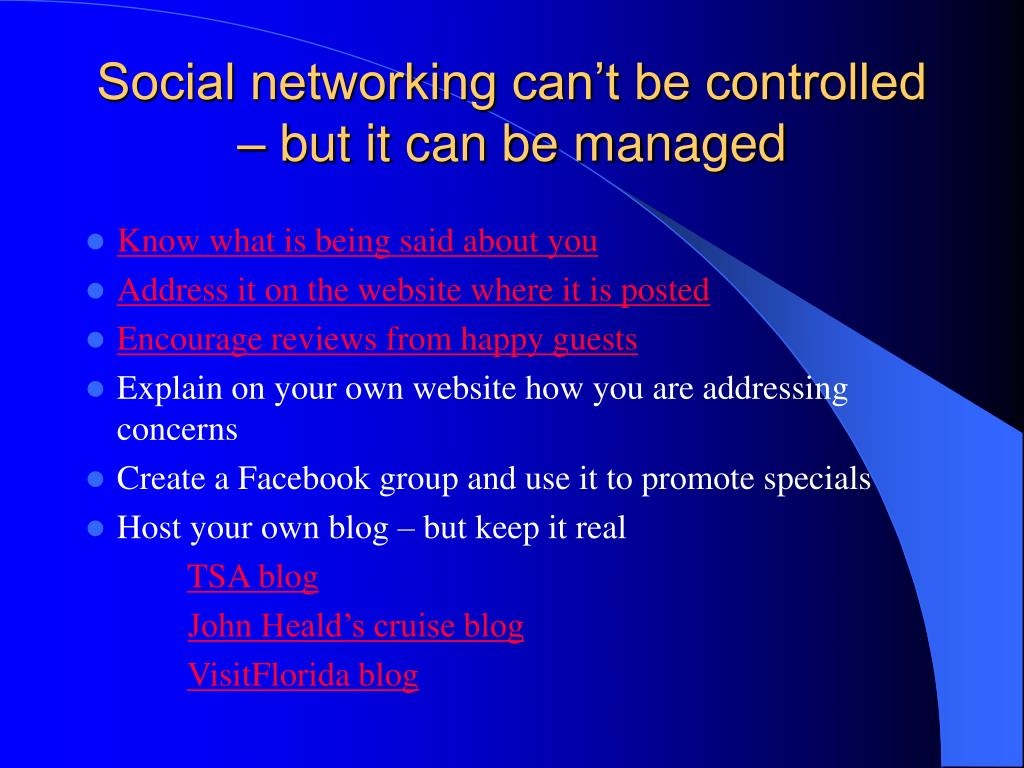 Social networking can't be controlled – but it can be managed