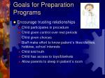 goals for preparation programs1