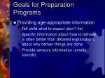 goals for preparation programs3
