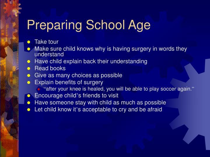 Preparing School Age