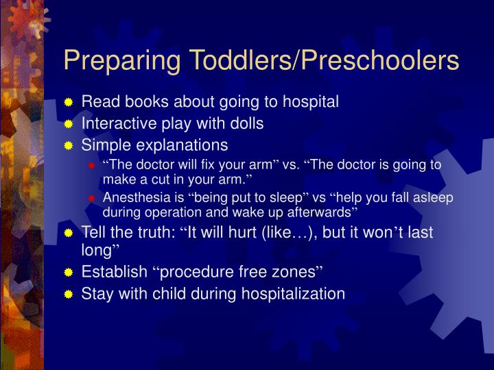 Preparing Toddlers/Preschoolers