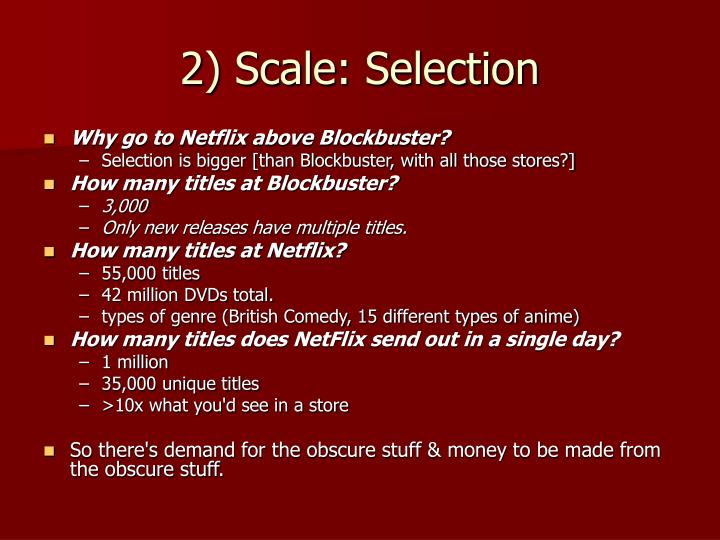 2) Scale: Selection
