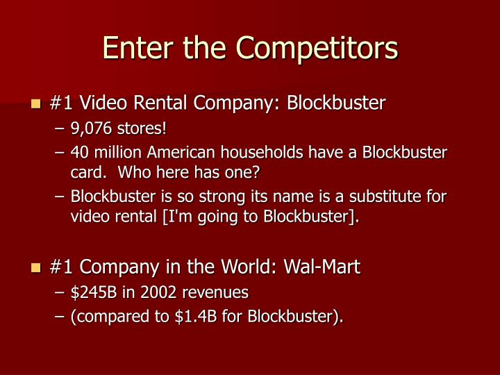 Enter the Competitors
