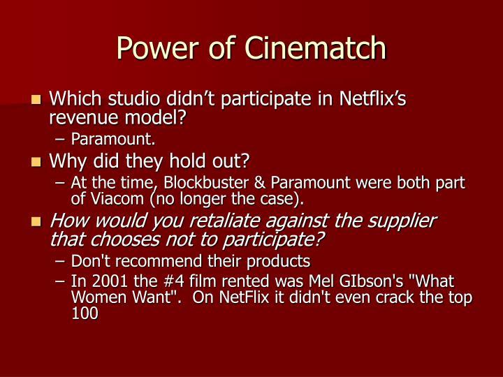Power of Cinematch