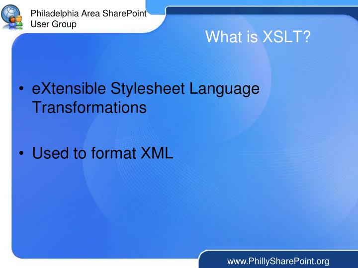 What is xslt