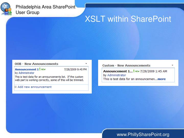 XSLT within SharePoint