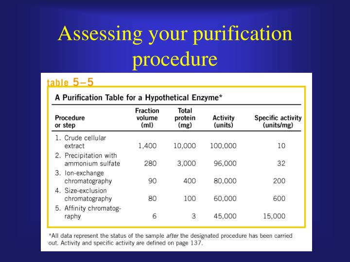 Assessing your purification procedure