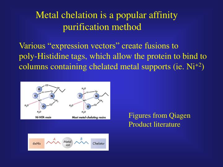 Metal chelation is a popular affinity