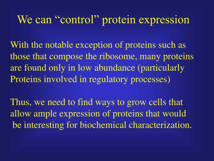 "We can ""control"" protein expression"