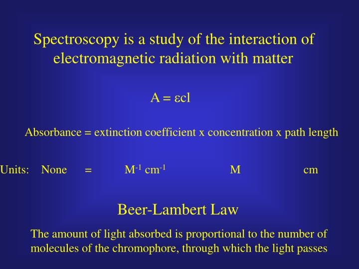 Spectroscopy is a study of the interaction of