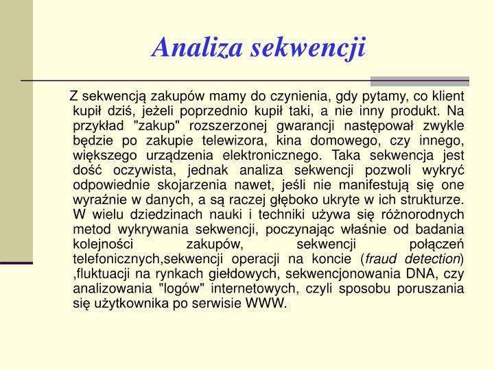 Analiza sekwencji