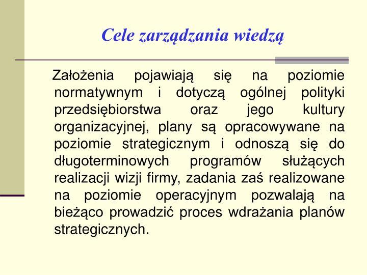 Cele zarządzania wiedzą