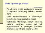 dane informacje wiedza3