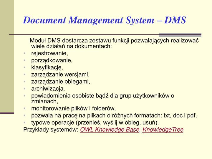 Document Management System – DMS