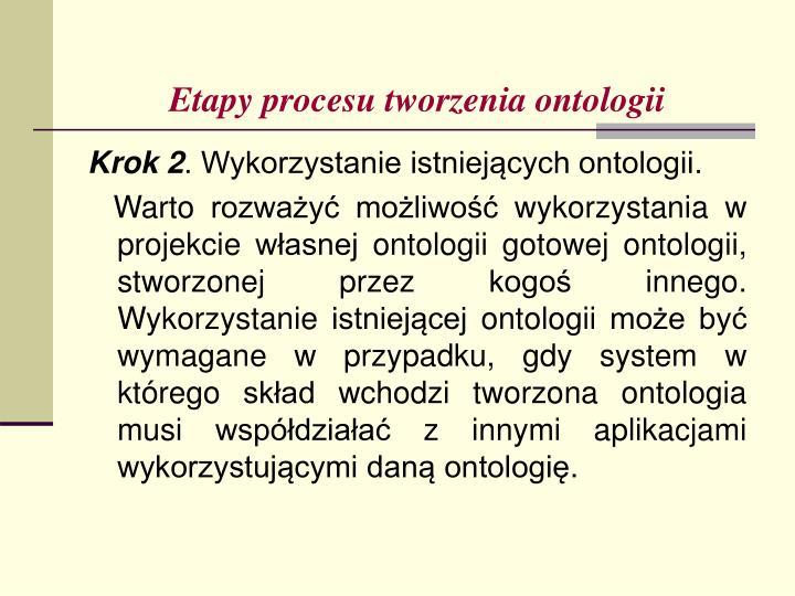 Etapy procesu tworzenia ontologii
