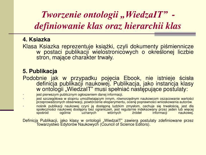 "Tworzenie ontologii ""WiedzaIT""  - definiowanie klas oraz hierarchii klas"