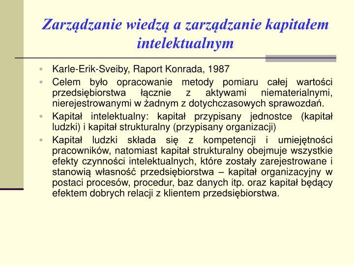 Zarządzanie wiedzą a zarządzanie kapitałem intelektualnym