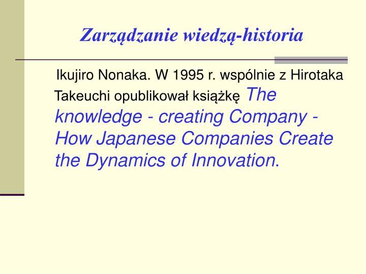 Zarządzanie wiedzą-historia