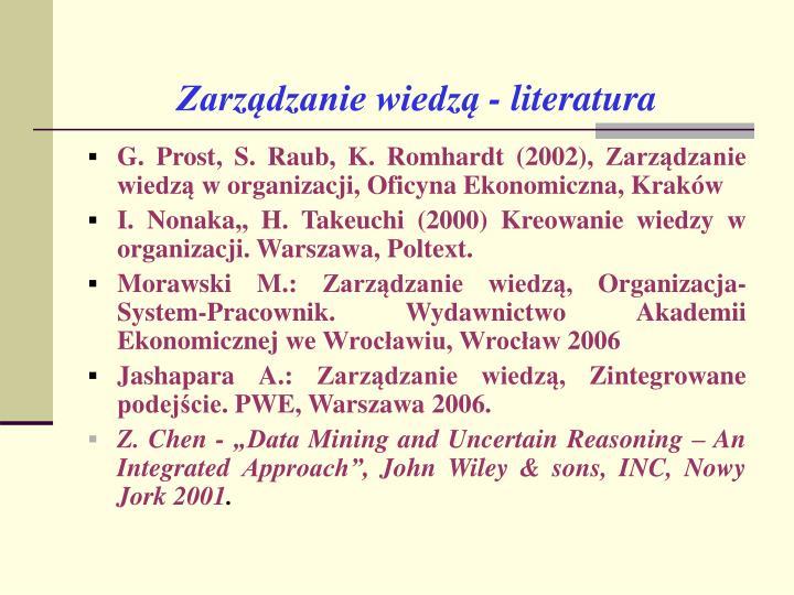Zarządzanie wiedzą - literatura