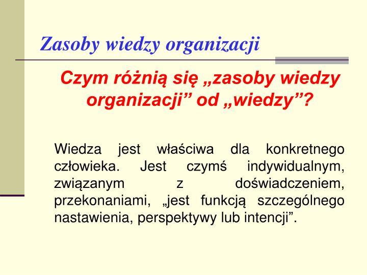 Zasoby wiedzy organizacji