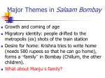 major themes in salaam bombay