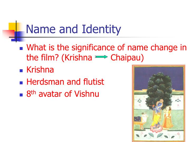 Name and Identity
