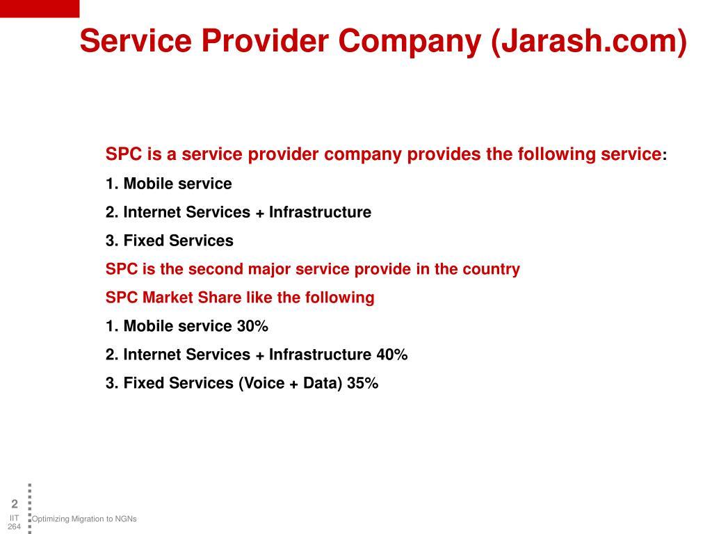 Service Provider Company (Jarash.com)