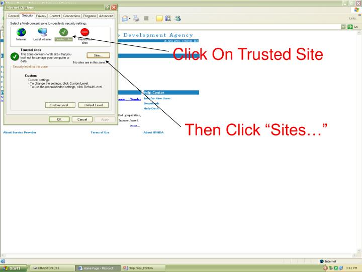 Click On Trusted Site