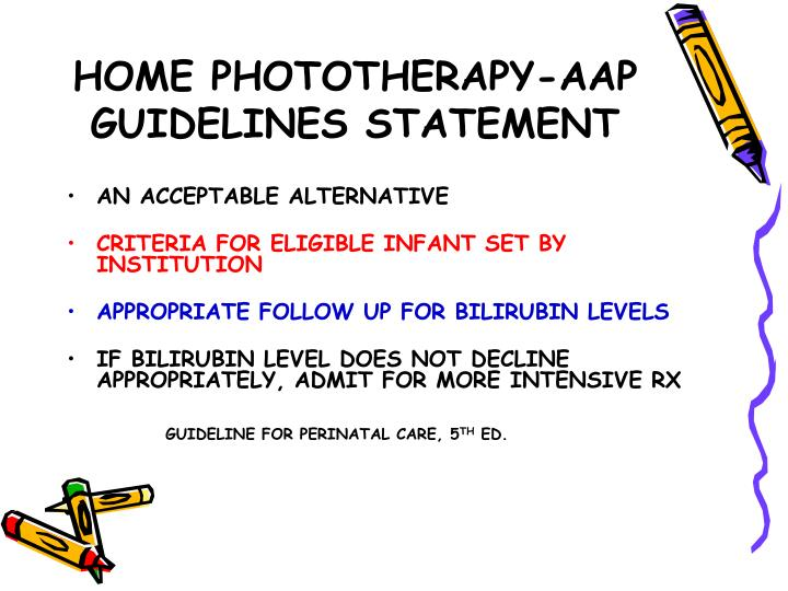 HOME PHOTOTHERAPY-AAP GUIDELINES STATEMENT