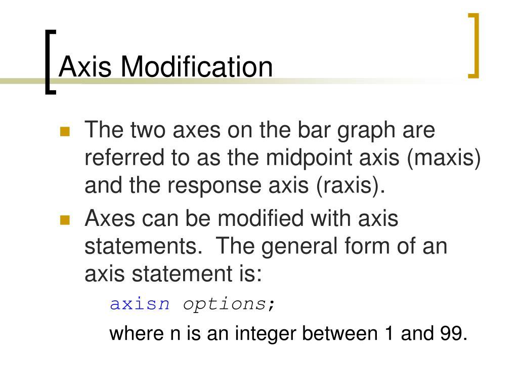 Axis Modification