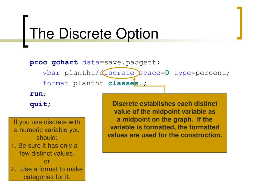 The Discrete Option