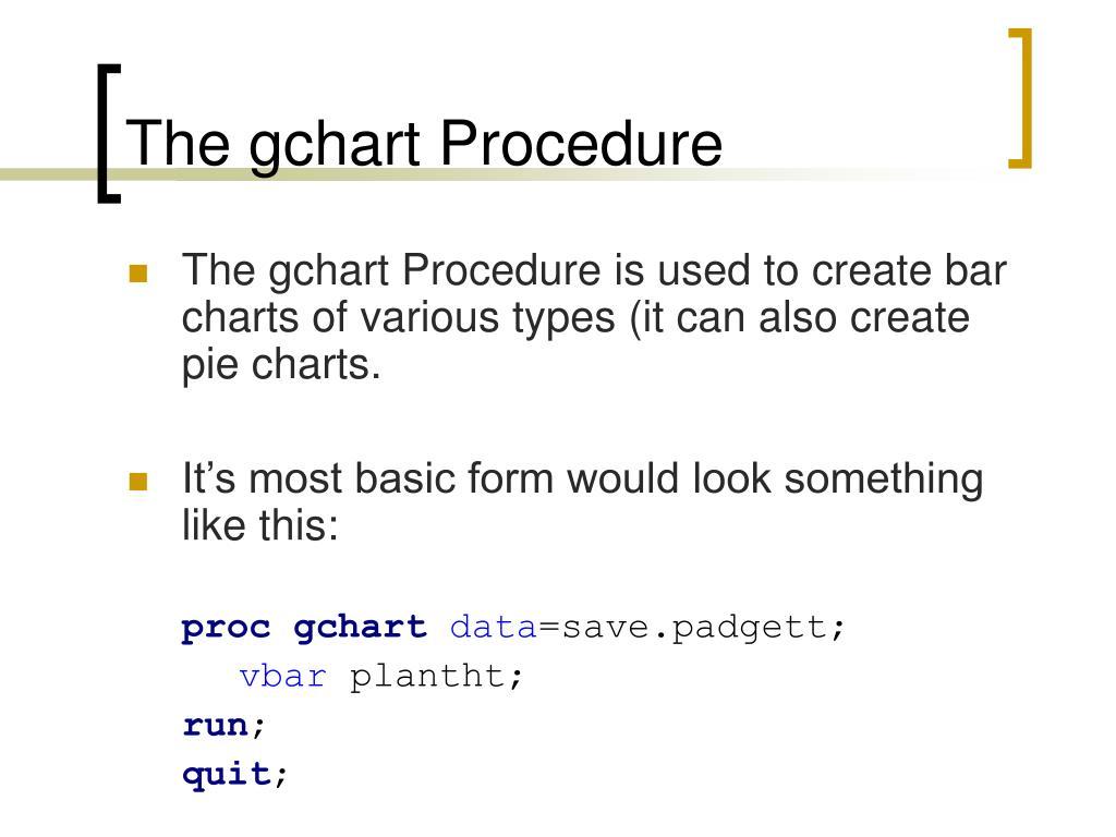 The gchart Procedure