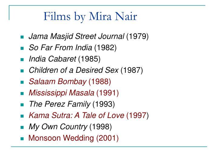 Films by Mira Nair