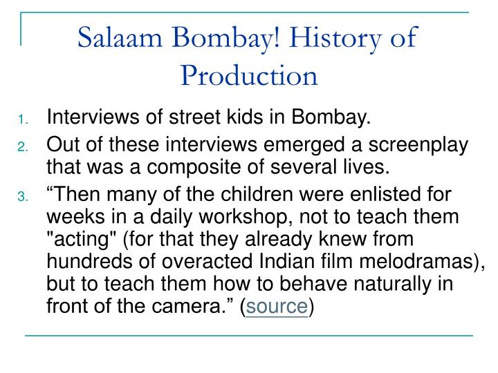Salaam Bombay! History of Production