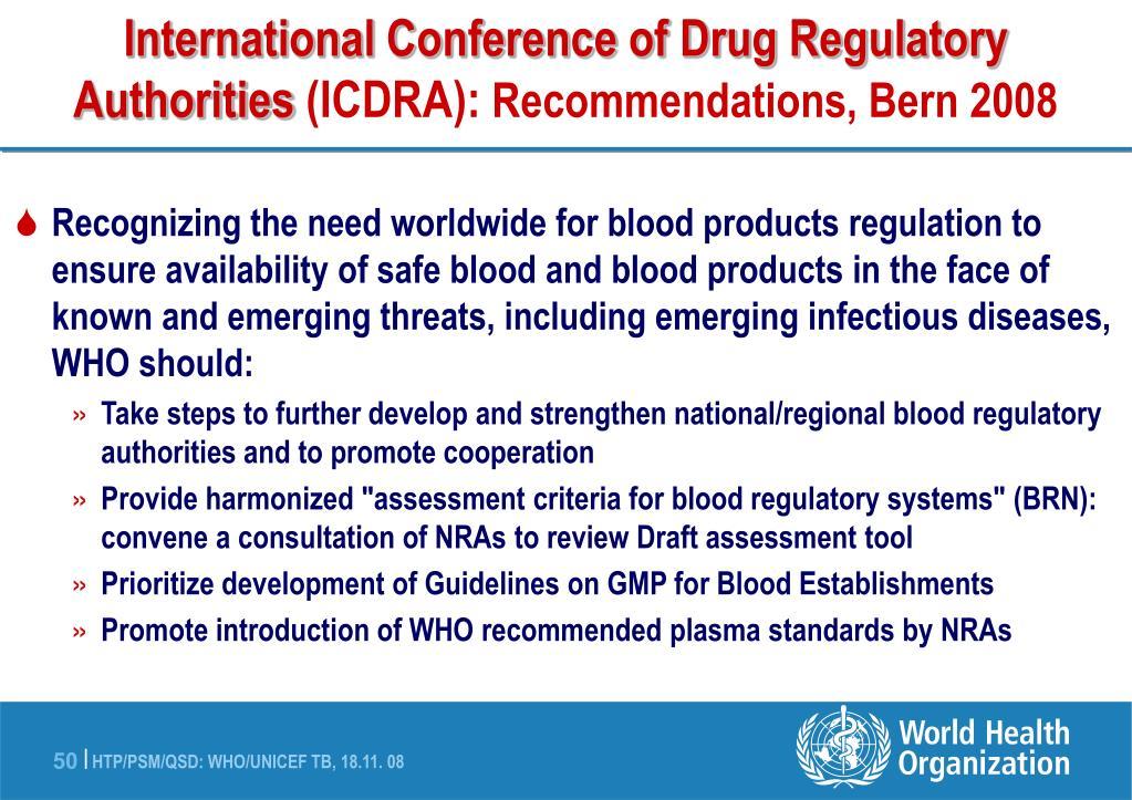 International Conference of Drug Regulatory Authorities