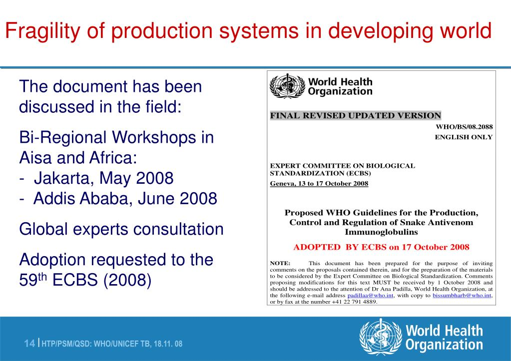 Fragility of production systems in developing world