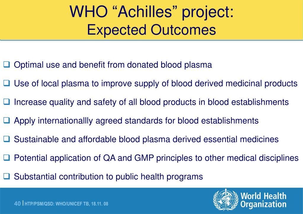 "WHO ""Achilles"" project:"