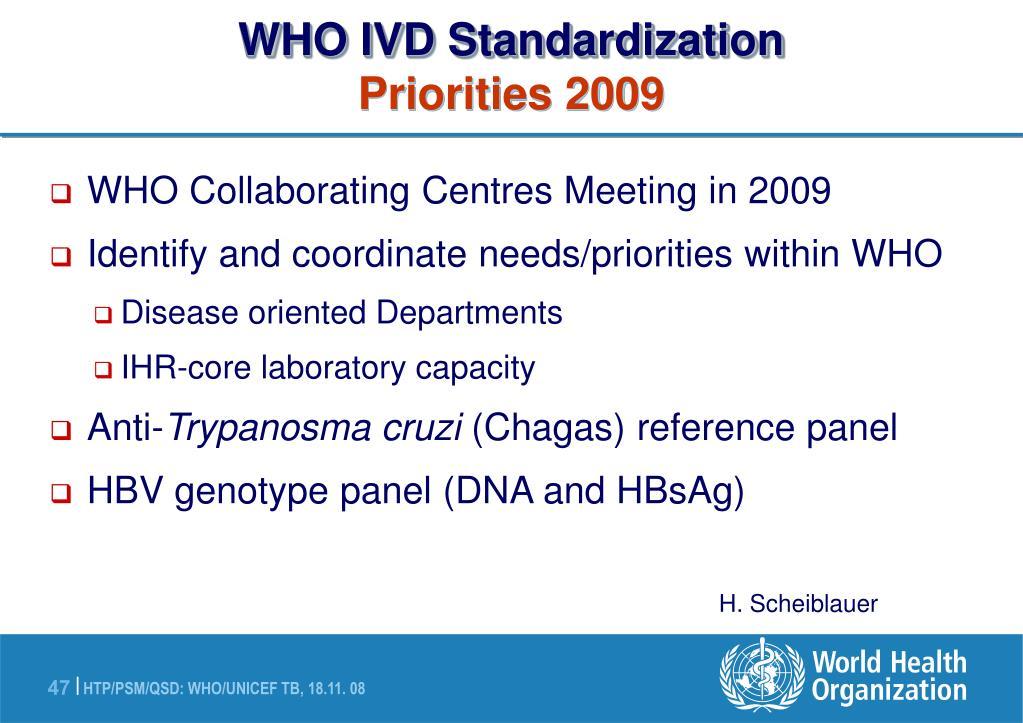 WHO IVD Standardization