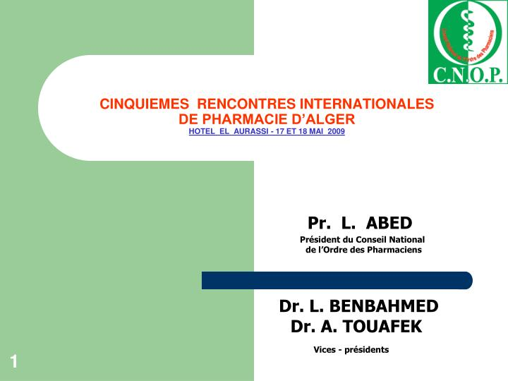CINQUIEMES  RENCONTRES INTERNATIONALES