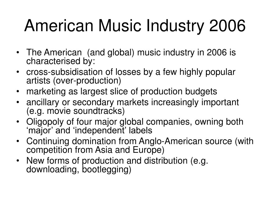 American Music Industry 2006