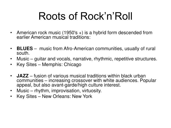 Roots of rock n roll