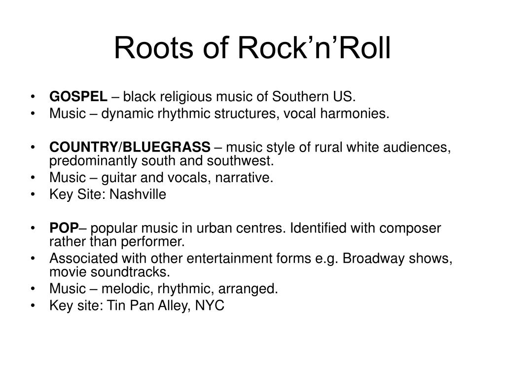 Roots of Rock'n'Roll