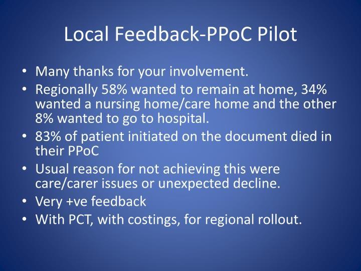 Local Feedback-PPoC Pilot